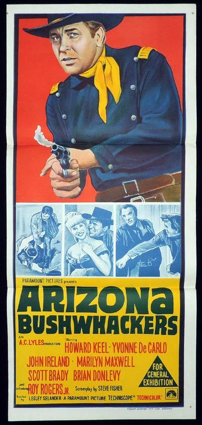ARIZONA BUSHWACKERS Original Daybill Movie poster Howard Keel Yvonne de Carlo