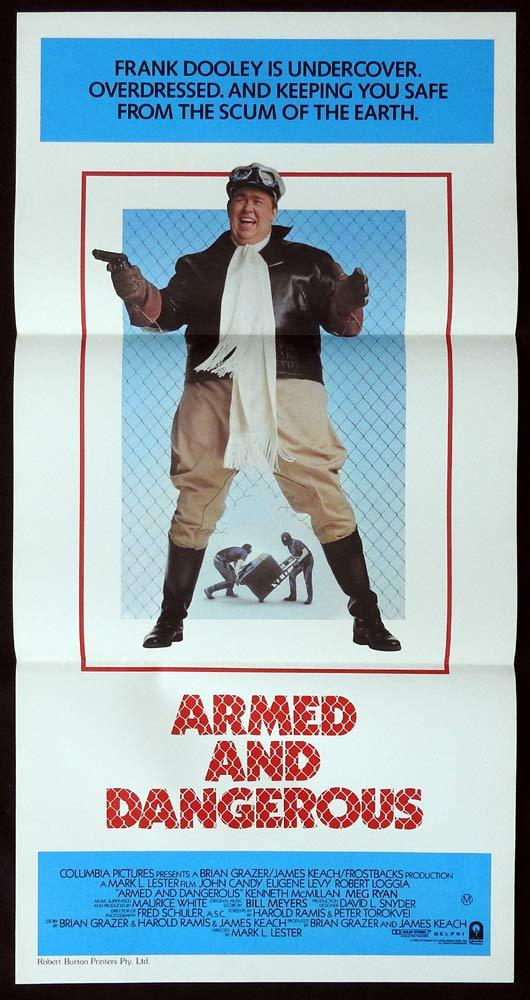 ARMED AND DANGEROUS Original Daybill Movie poster JOHN CANDY Eugene Levy