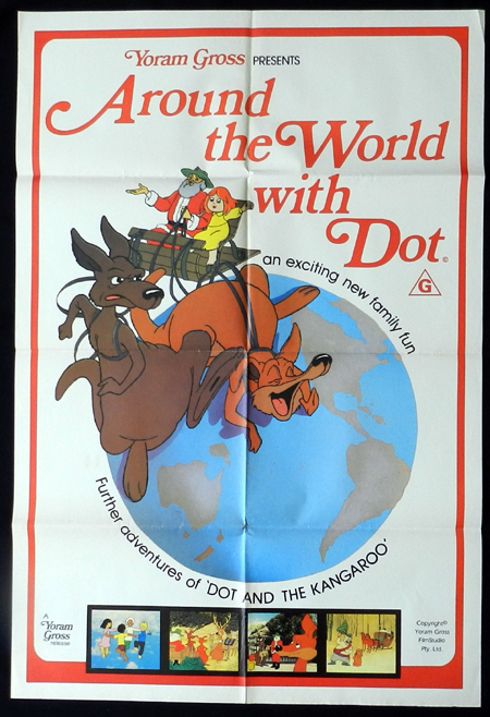 AROUND THE WORLD WITH DOT 1981 Kangaroo Australian One sheet Movie poster