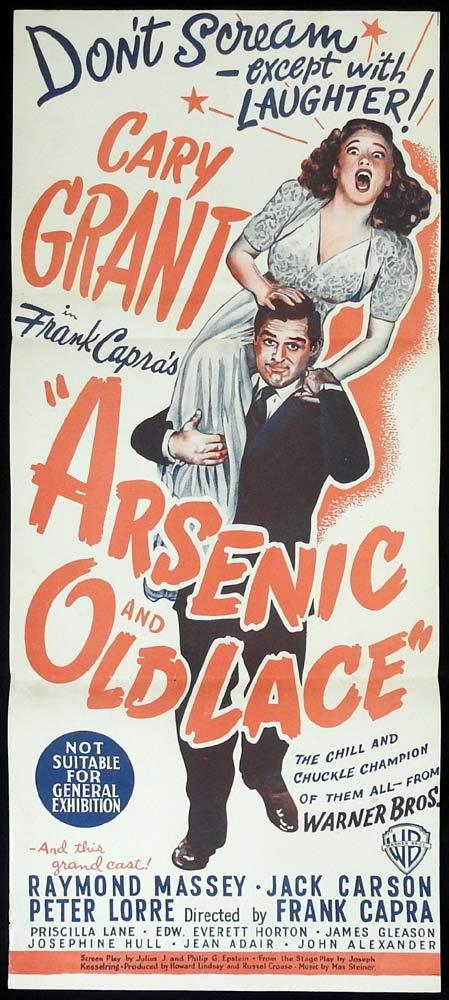 ARSENIC AND OLD LACE Original Daybill Movie Poster Cary Grant Frank Capra
