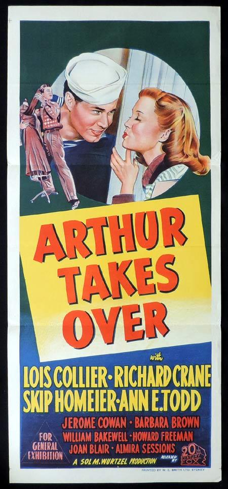 ARTHUR TAKES OVER Original Daybill Movie Poster Clark Lois Collier
