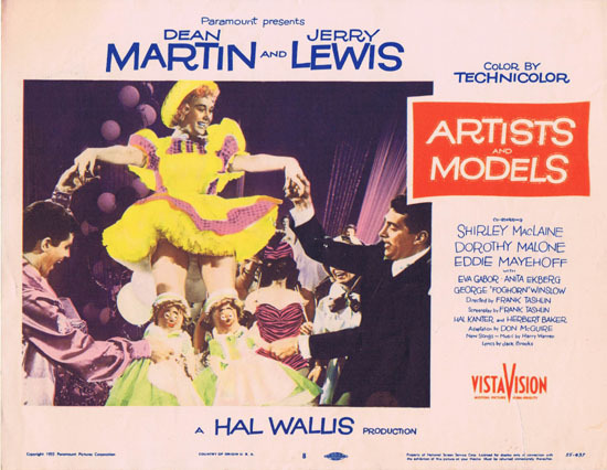 ARTISTS AND MODELS 1955 Lobby Card 8 Jerry Lewis