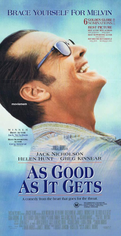 AS GOOD AS IT GETS Original Daybill Movie Poster Jack Nicholson