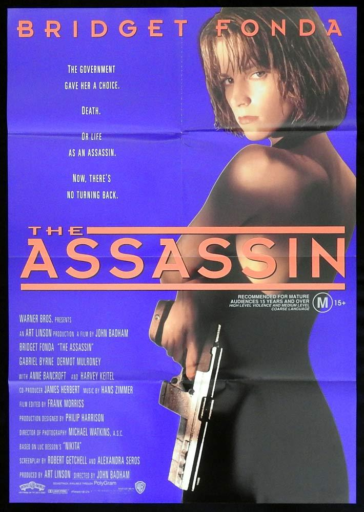 ASSASSIN aka POINT OF NO RETURN Original One sheet Movie Poster Bridget Fonda