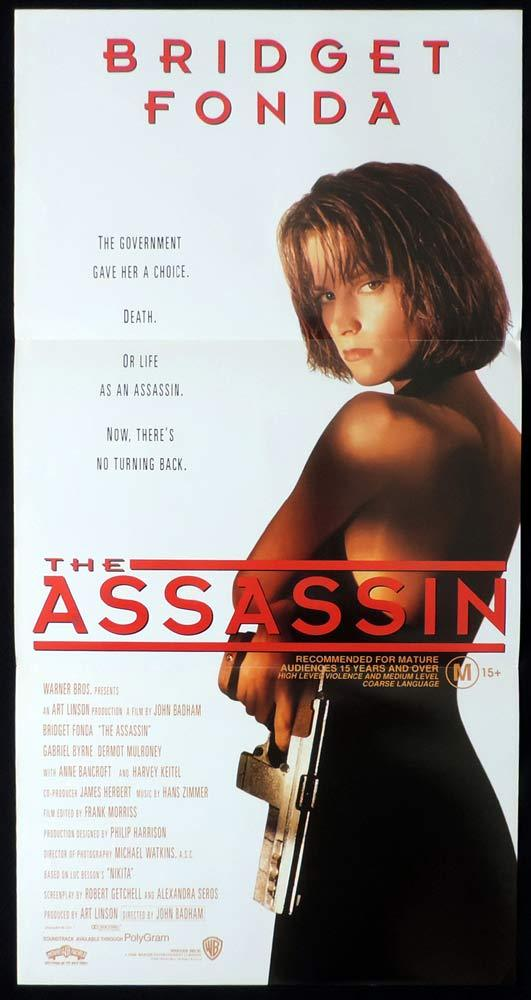 ASSASSIN aka POINT OF NO RETURN Original Daybill Movie Poster Bridget Fonda