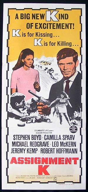 ASSIGNMENT K '68 Australian Daybill Movie Poster Camilla Sparv Stephen Boyd
