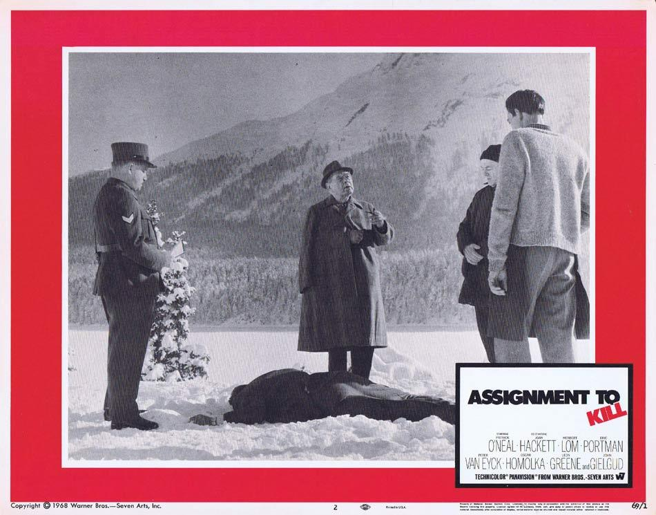ASSIGNMENT TO KILL Lobby Card 2 Patrick O'Neal John Gielgud Herbert Lom