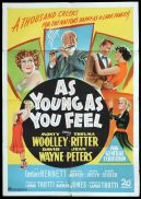 AS YOUNG AS YOU FEEL Original One sheet Movie Poster Marilyn Monroe Jean Peters