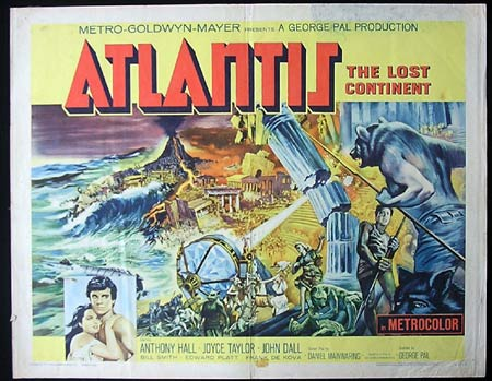 ATLANTIS '61 George Pal US HALF SHEET Rare SCI FI poster