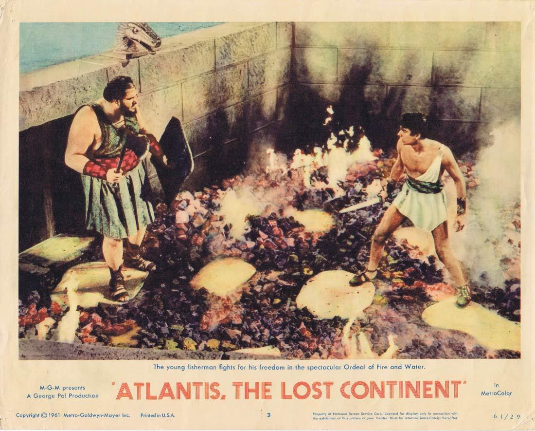 ATLANTIS THE LOST CONTINENT Lobby Card 2 Sal Ponti George Pal