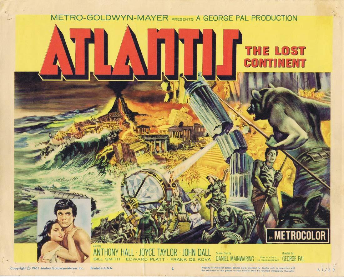 ATLANTIS THE LOST CONTINENT Title Lobby Card 5 Sal Ponti George Pal