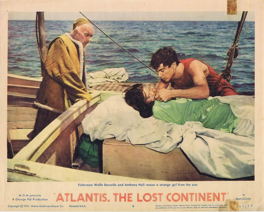 ATLANTIS THE LOST CONTINENT Lobby Card 5 Sal Ponti George Pal
