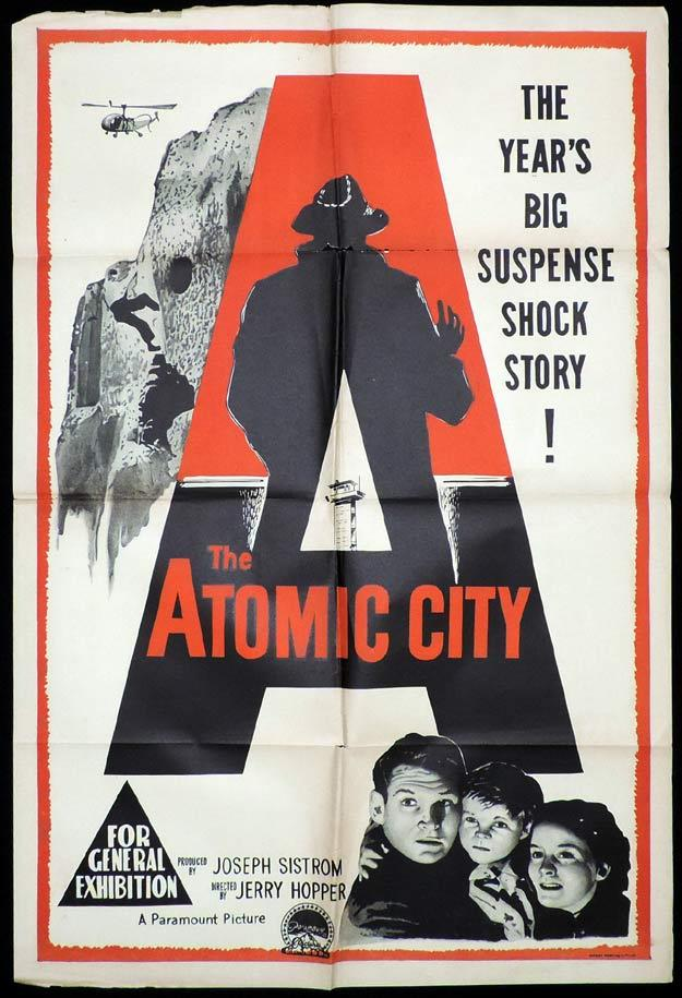 THE ATOMIC CITY One Sheet Movie Poster Gene Barry Sci Fi