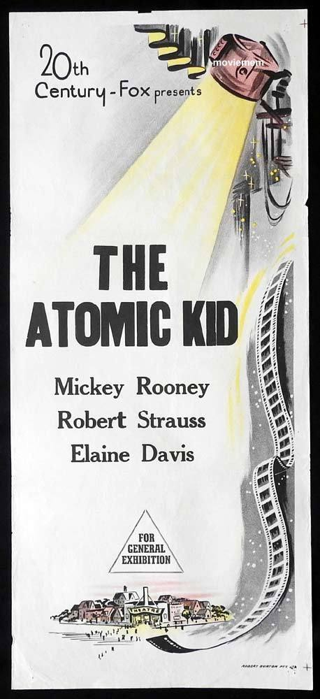 THE ATOMIC KID Original 60s stock Daybill Movie Poster Mickey Rooney