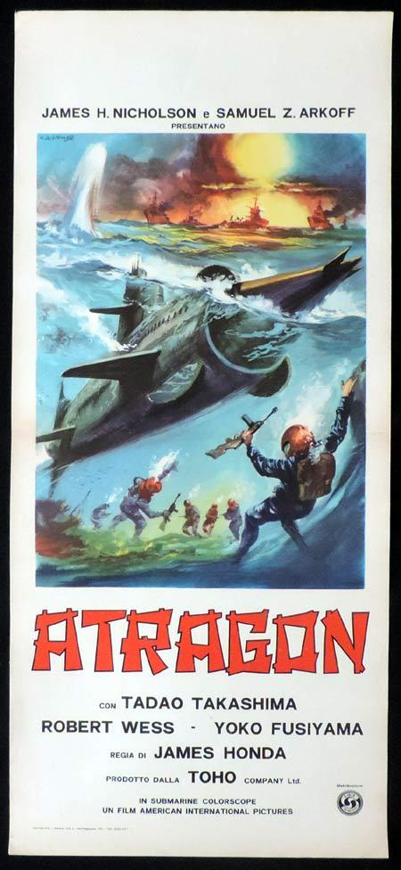 ATRAGON Italian Locandina Movie Poster TOHO Science Fiction