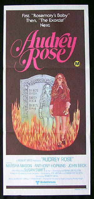 AUDREY ROSE Original Daybill Movie Poster Marsha Mason Anthony Hopkins