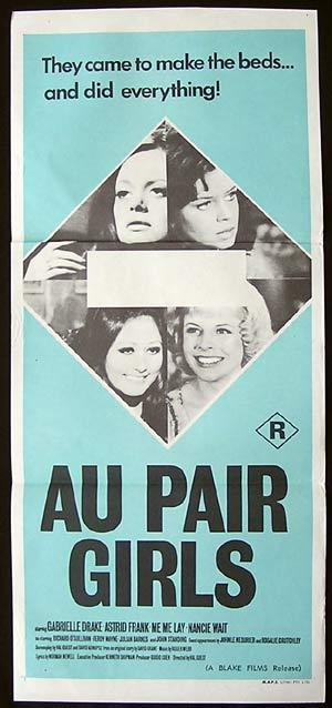 "AU PAIR GIRLS '72-Astrid Frank-Johnny Briggs poster ""B"""