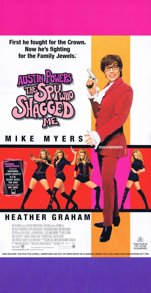 AUSTIN POWERS THE SPY WHO SHAGGED ME Original Daybill Movie Poster Mike Myers