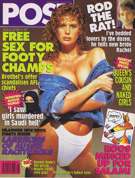 Australasian Post Magazine Aug 24 1991 Rod Stewart the Rat!