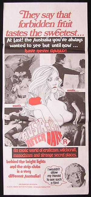 AUSTRALIA AFTER DARK Daybill Movie poster 1974 John Lamond