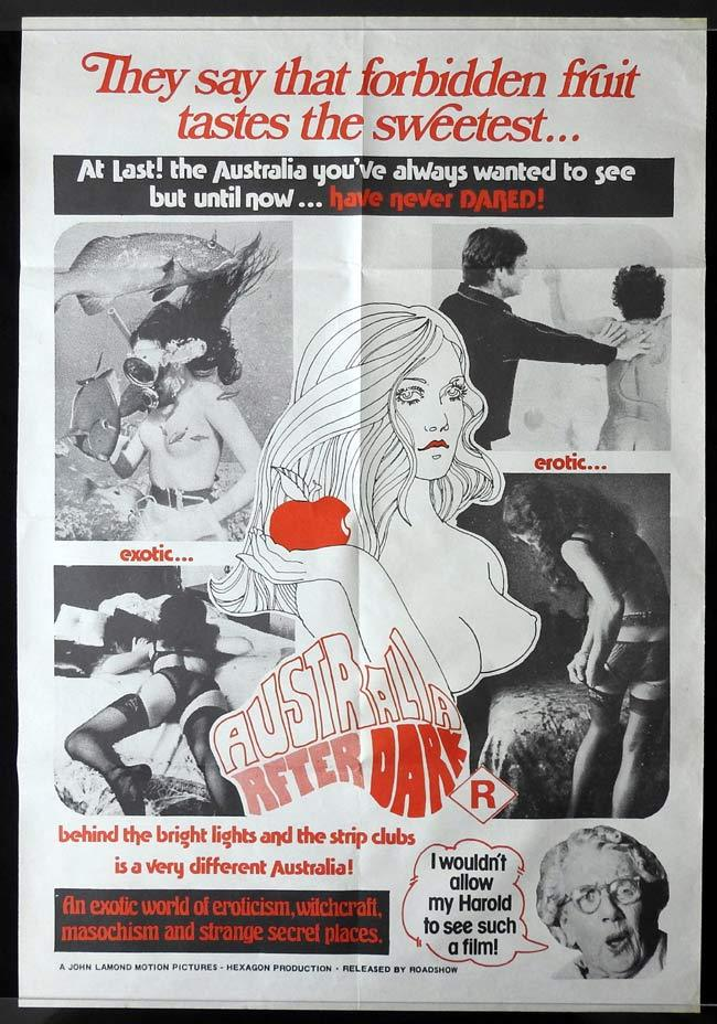 AUSTRALIA AFTER DARK One sheet Movie poster John Lamond