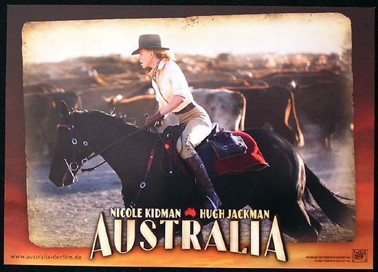 AUSTRALIA German Lobby card 2 2008 Baz Luhrmann Nicole Kidman