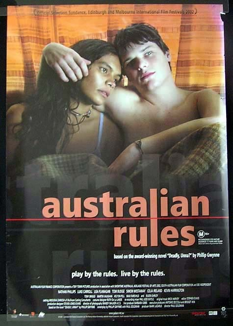 AUSTRALIAN RULES Nathan Phillips Luke Flannagan Movie Poster Australian One sheet