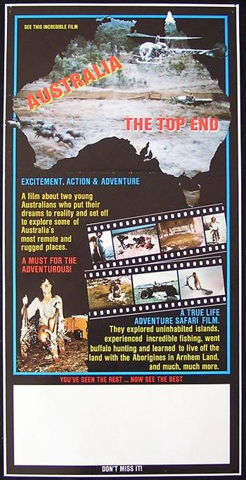 AUSTRALIA THE TOP END 1986 Arnhem Land RARE Movie poster