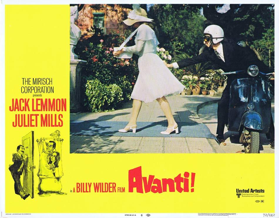 AVANTI Lobby Card 6 Billy Wilder Jack Lemmon Juliet Mills