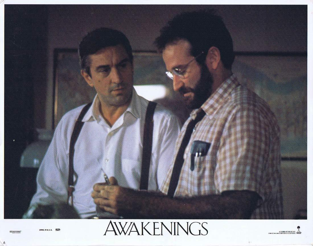AWAKENINGS Lobby Card 6 Robert De Niro Robin Williams