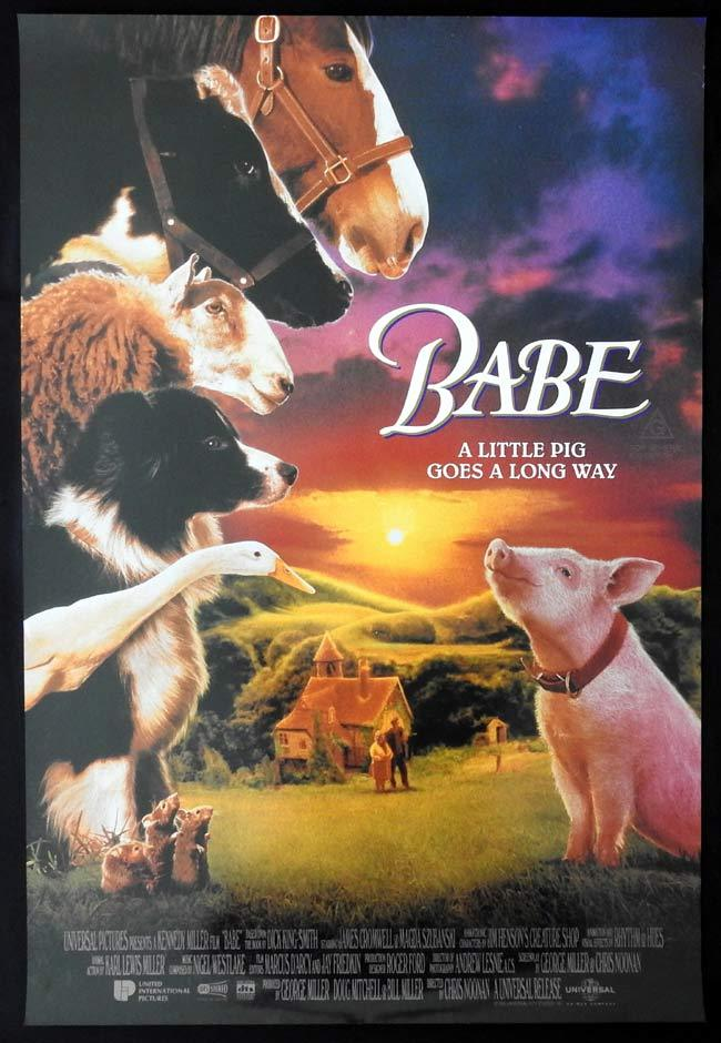 BABE Original One sheet Movie poster Magda Szubanski