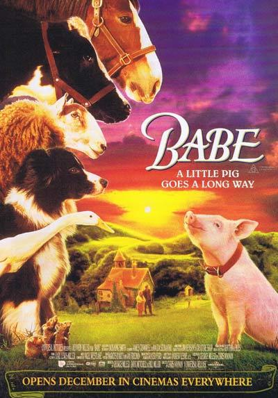 BABE THE GALLANT PIG 1995 Australian Cinema Classic Rare Original Handbill / Flyer