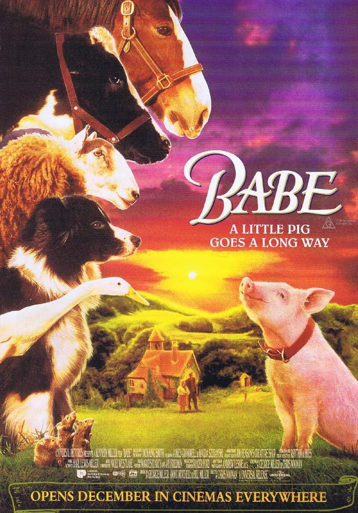 BABE Original Movie Flyer Magda Szubanski