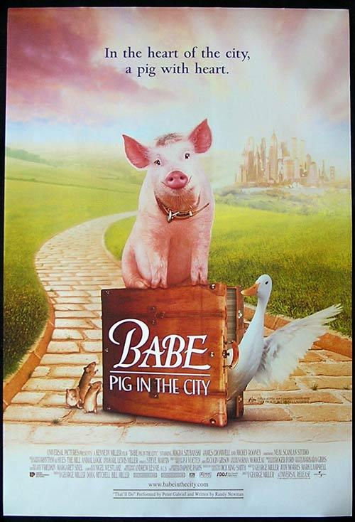 BABE PIG IN THE CITY Magda Szubanski Australian 1 sht poster