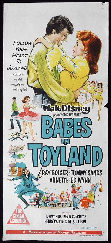 BABES IN TOYLAND Original Daybill Movie Poster Ray Bolger Tommy Sands