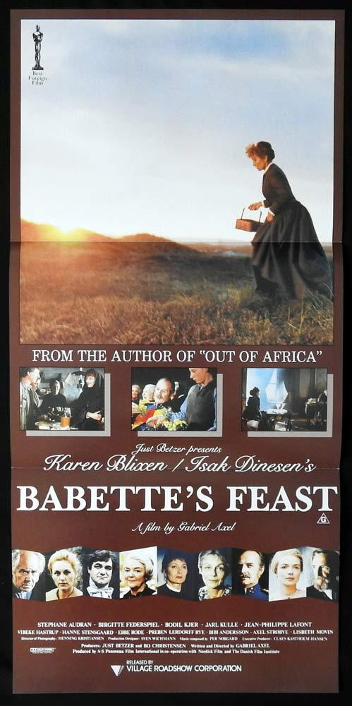 BABETTE'S FEAST Original Daybill Movie poster Stephane Audran Bodil Kjer