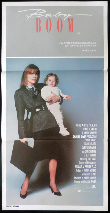 BABY BOOM Original Daybill Movie poster Diane Keaton