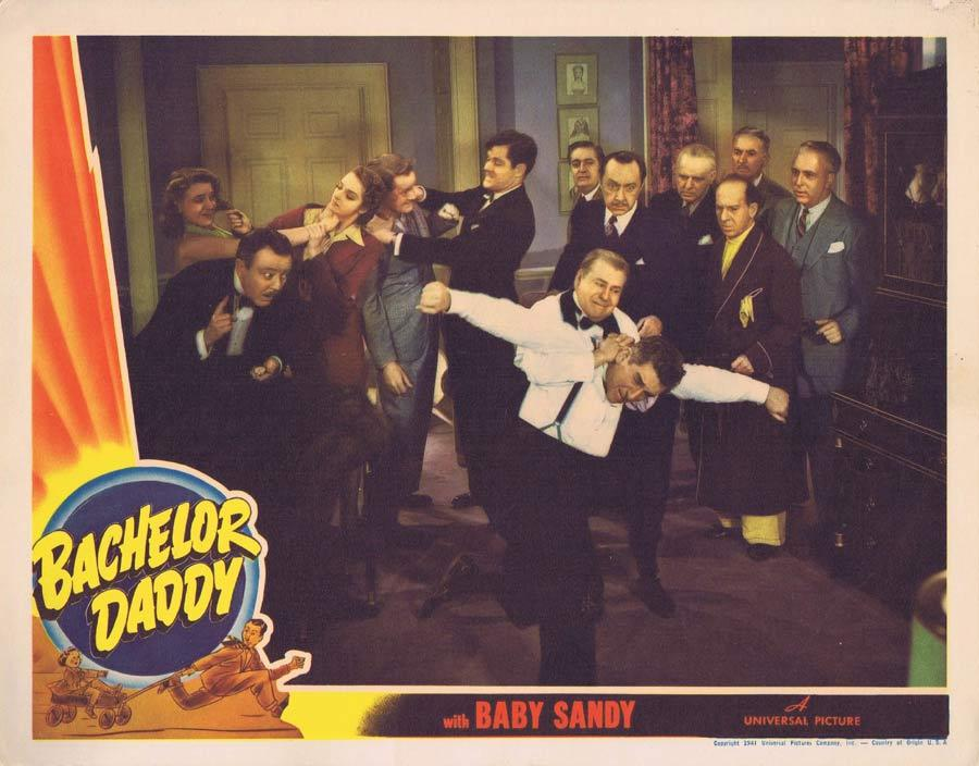 BACHELOR DADDY Lobby Card 3 Baby Sandy Edward Everett Horton