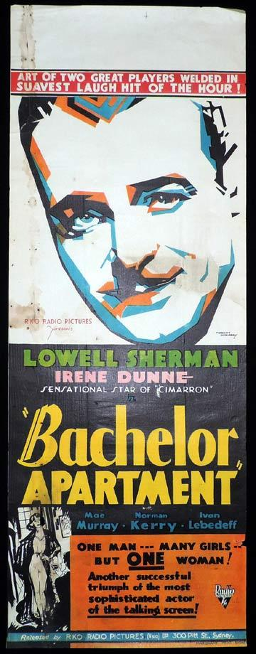 BACHELOR APARTMENT Long Daybill Movie poster 1931 Norman McMurray Art Deco design