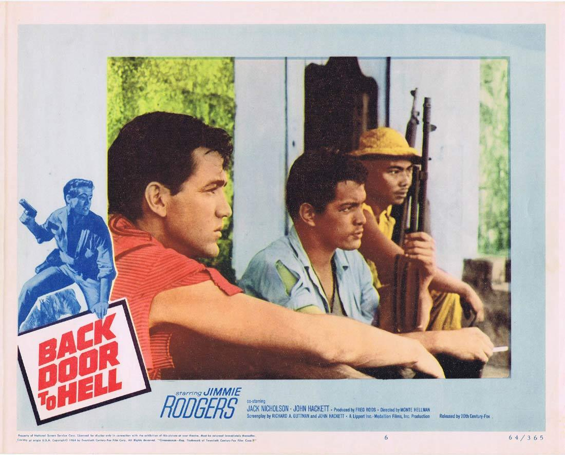 BACK DOOR TO HELL 1964 Jimmie Rodgers Jack Nicholson Lobby Card 6