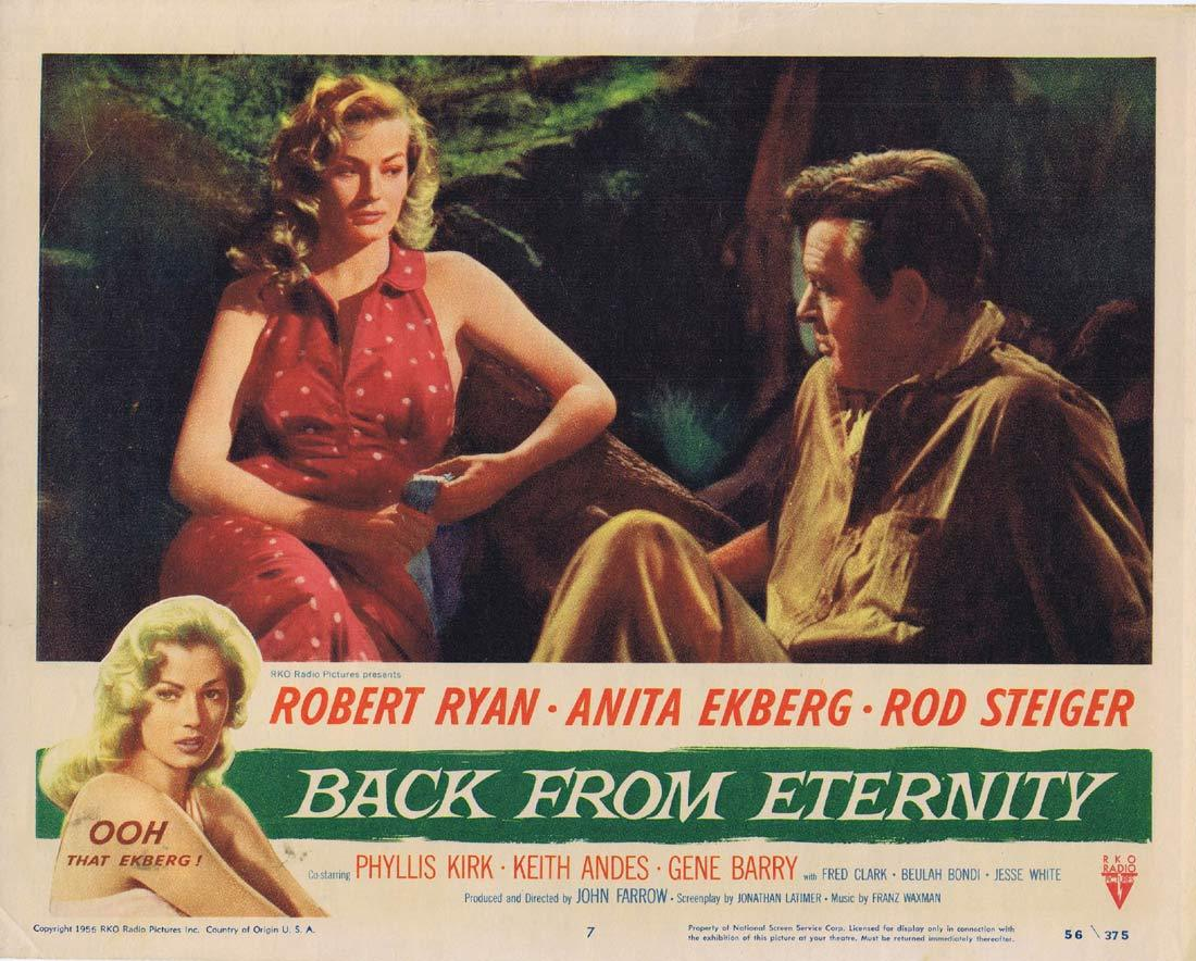 BACK FROM ETERNITY Original Lobby Card Robert Ryan Anita Ekberg Rod Steiger