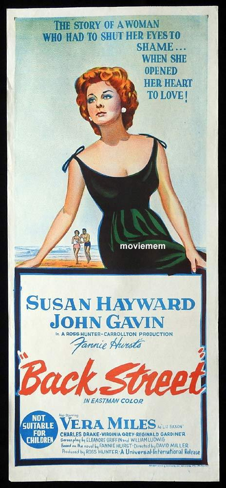 BACK STREET Original Daybill Movie Poster Susan Hayward John Gavin