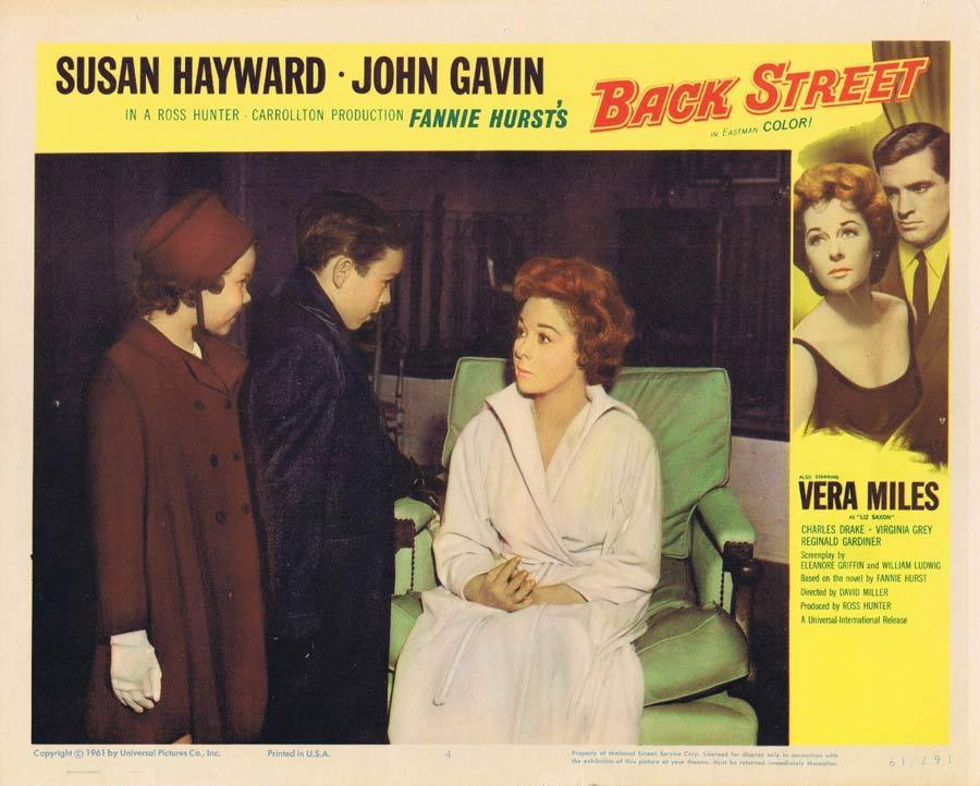 BACK STREET Vintage Lobby Card Susan Hayward John Gavin