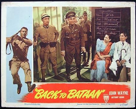 BACK TO BATAAN '45-John Wayne ORIGINAL US Lobby card #3