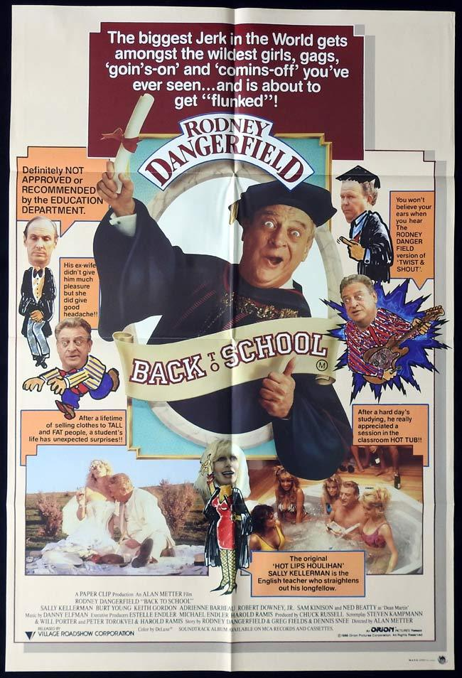 BACK TO SCHOOL Original One sheet Movie poster  Rodney Dangerfield