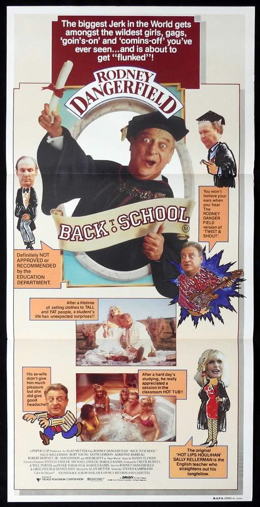 BACK TO SCHOOL Original Daybill Movie poster Rodney Dangerfield Sally Kellerman