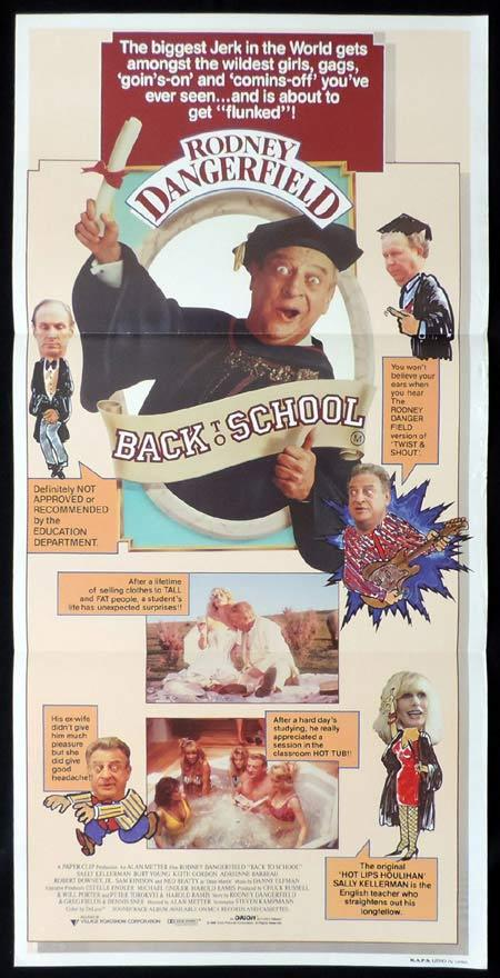 Back to School, Alan Metter, Rodney Dangerfield, Sally Kellerman, Burt Young, Keith Gordon