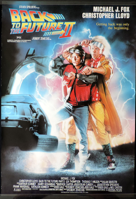 BACK TO THE FUTURE 2 Australian One sheet Movie poster ROLLED