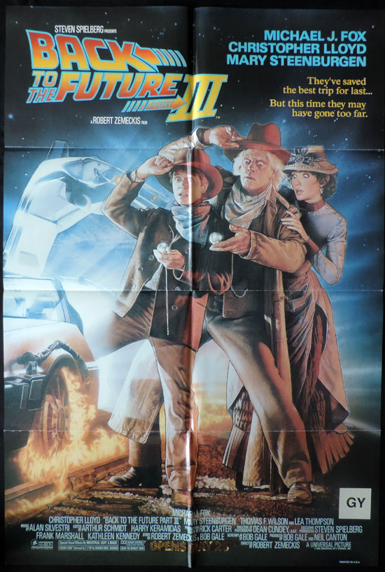 BACK TO THE FUTURE 3 US One sheet Movie poster
