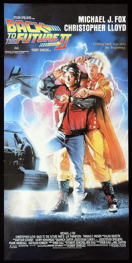 BACK TO THE FUTURE II Original Daybill Movie poster Drew Struzan art 2